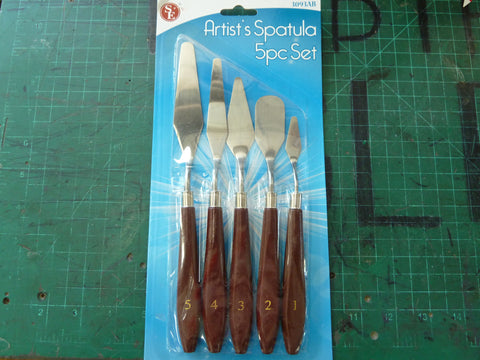 5 pc Artist's Spatula Set