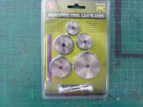 7 pc. High Speed Steel Saw Blades