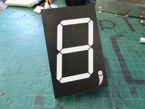 Giant 7-segment LED display