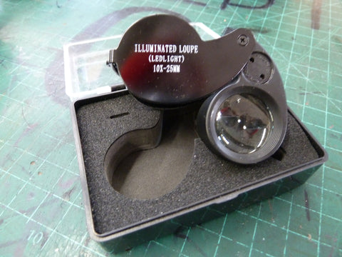 10x25mm Illuminated Jeweler's Loupe