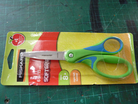 "6"" soft grip student scissors"