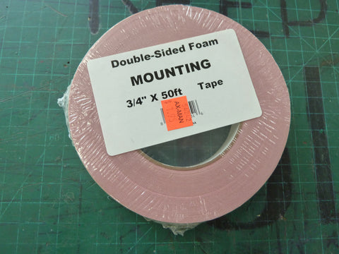 "50 Feet of .75"" Double-Sided Foam Mounting Tape"
