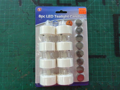 8 Piece LED Tealight Candles