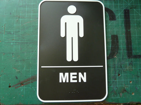 "6"" x 9"" ADA Compliant Braille Restroom Sign"