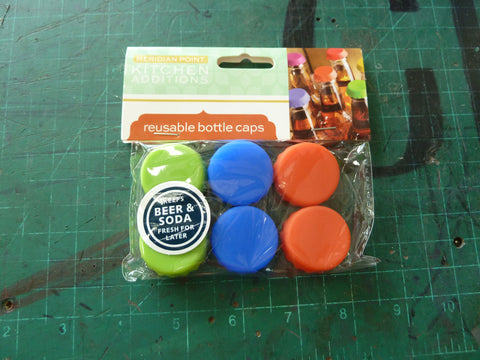6 Pack of Silicone Reusable Bottle Caps