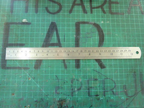 "Stainless Steel 12"" Ruler"