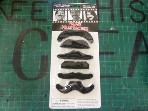 6 Piece Fake Mustache Set