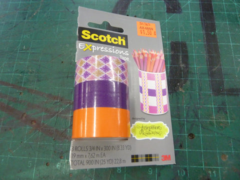 Orange and Purple Washi Tape