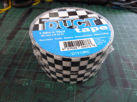 Black and White Checkered Duct Tape