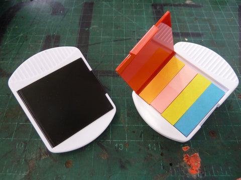 Magnetic Clips with Adhesive Paper Tabs! (Totally not Post-its.)