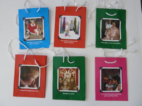 Pack of 6 Humorous Small Holiday-ish Gift Bags