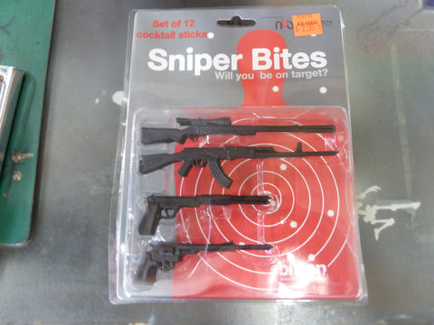 Sniper Bites (Gun-Shaped Cocktail Sticks)