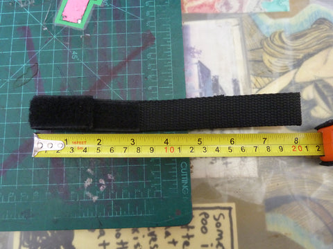 Double Ended 8 inch Black Hook and Loop Strap