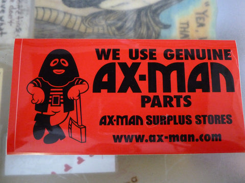 Ax-Man Bumper Sticker