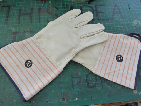 Size 10 Leather Work Gloves