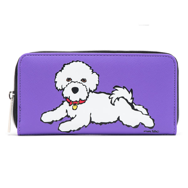 SALE! Large Zipper Wallet - Bichon
