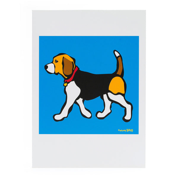 Beagle on Blue Card