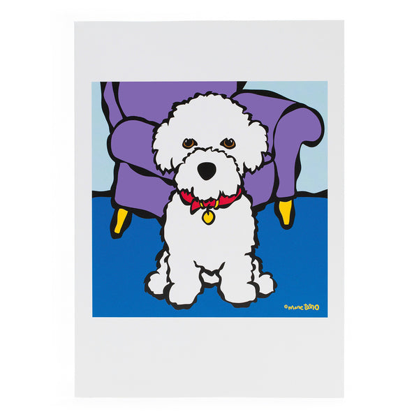 Bichon Greeting Card
