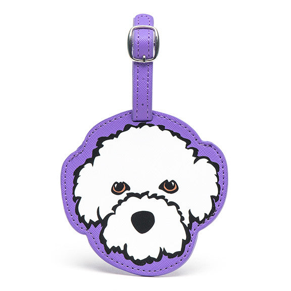 Bichon Luggage Tag
