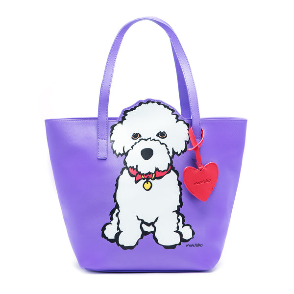 SALE! Bichon Tote Bag with Dangle