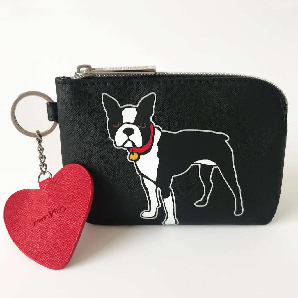 SALE! Boston Terrier Pouch with Dangle