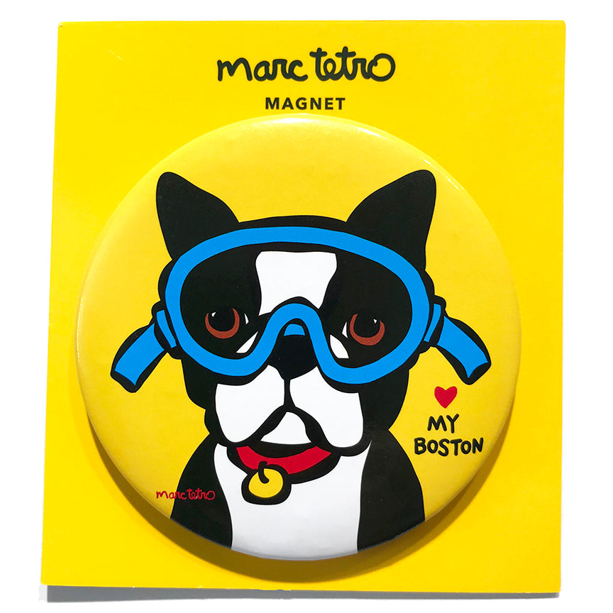 SALE! Boston Terrier with Goggles Magnet
