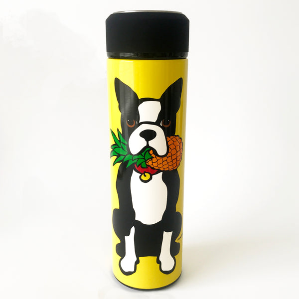 SALE! Boston Terrier with Pineapple Vacuum Insulated Water Bottle
