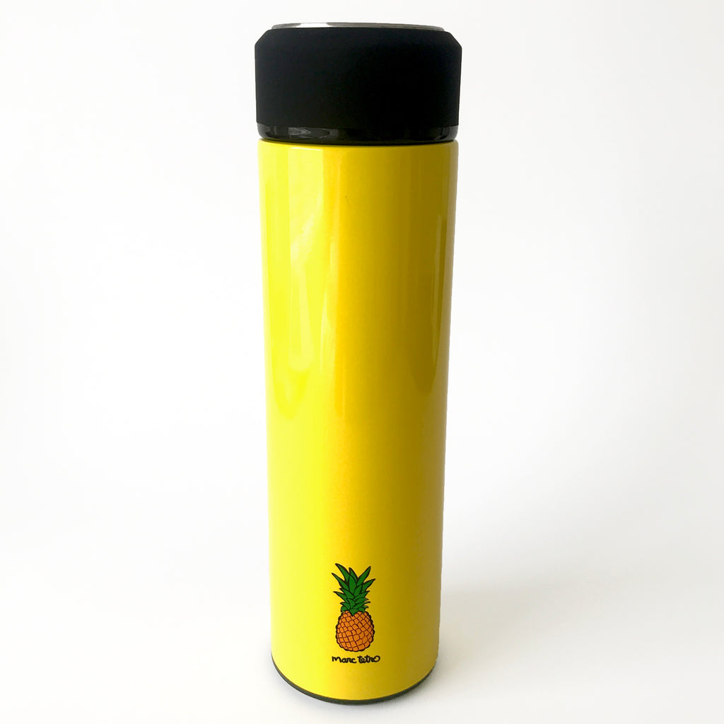Boston Terrier with Pineapple Vacuum Insulated Water Bottle