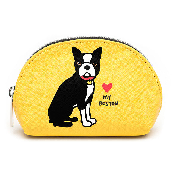 Boston Terrier Cosmetic Case - Mini
