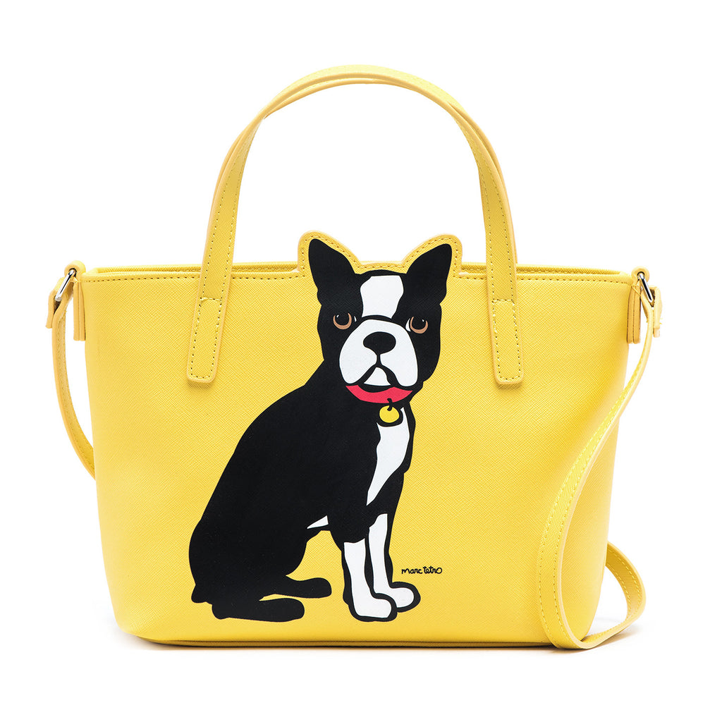 Boston Terrier Crossbody Tote Bag