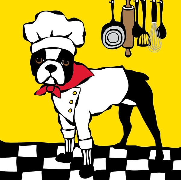 Boston Terrier Chef
