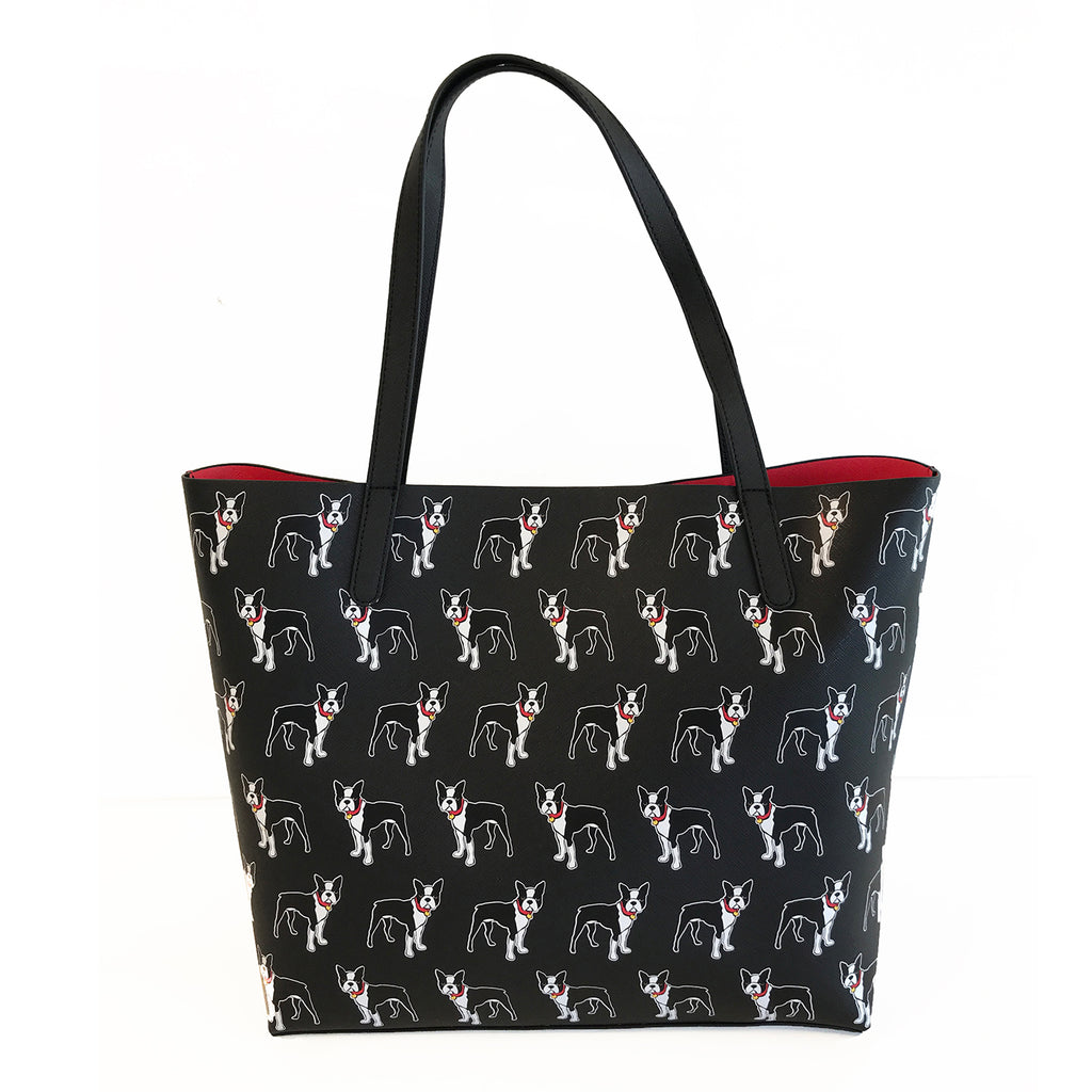 Boston Terrier Pattern Tote Bag