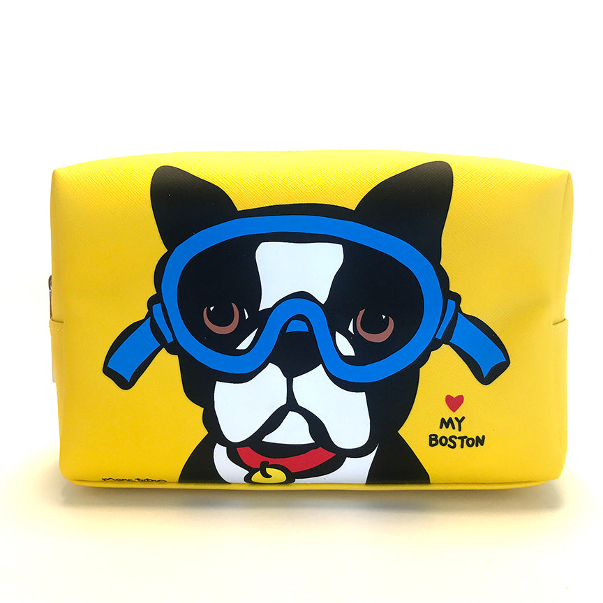 SALE! Boston Terrier with Goggles