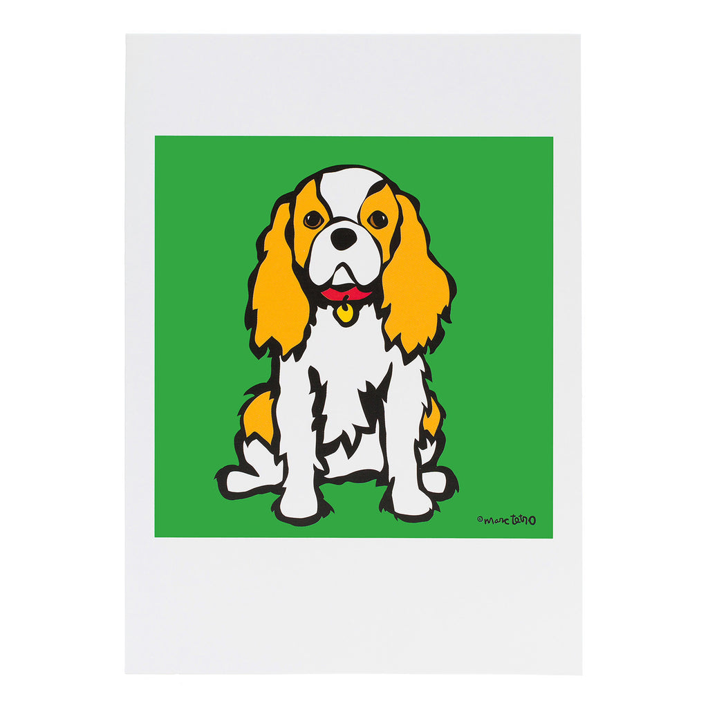 CAVALIER KING CHARLES GREETING CARD[marctetro]