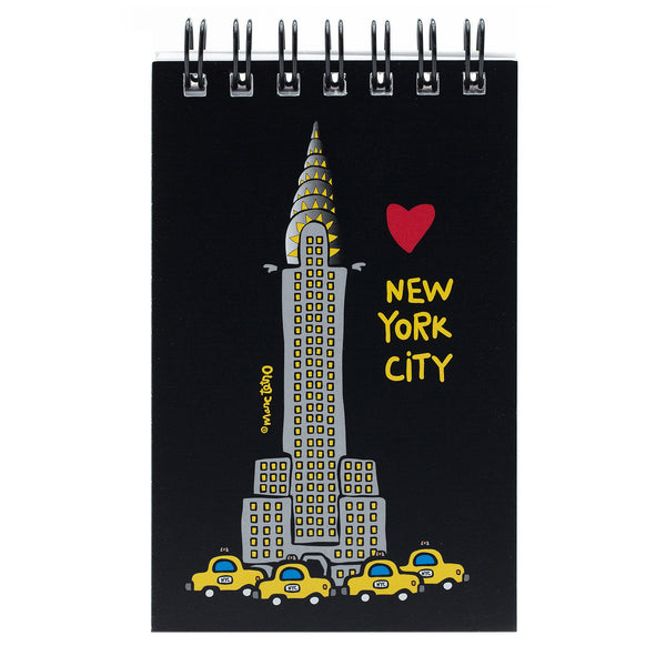 NYC Chrysler Building Spiral Notepad