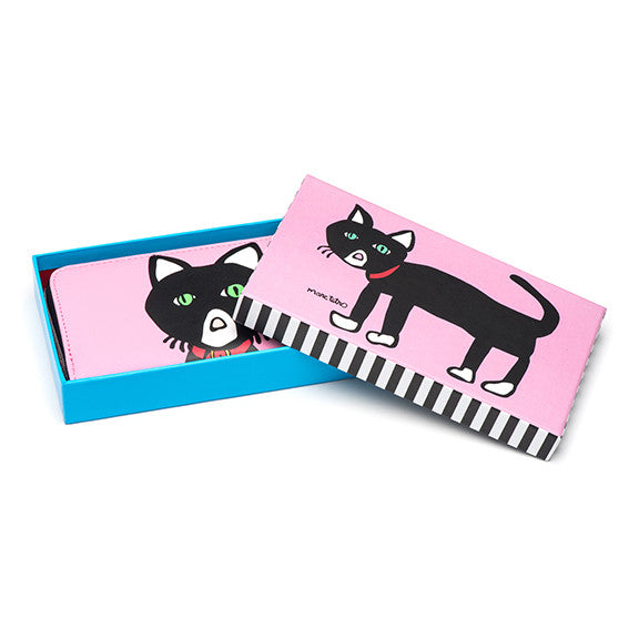 Large Zipper Wallet - Cat