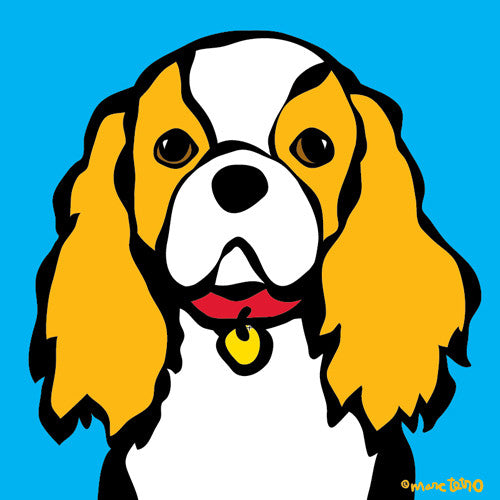 CAVALIER KING CHARLES PRINT[marctetro]