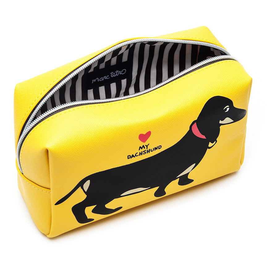 Dachshund Cosmetic Case - Large