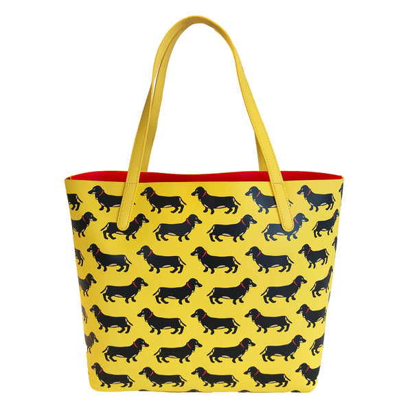 Dachshund Pattern Tote Bag