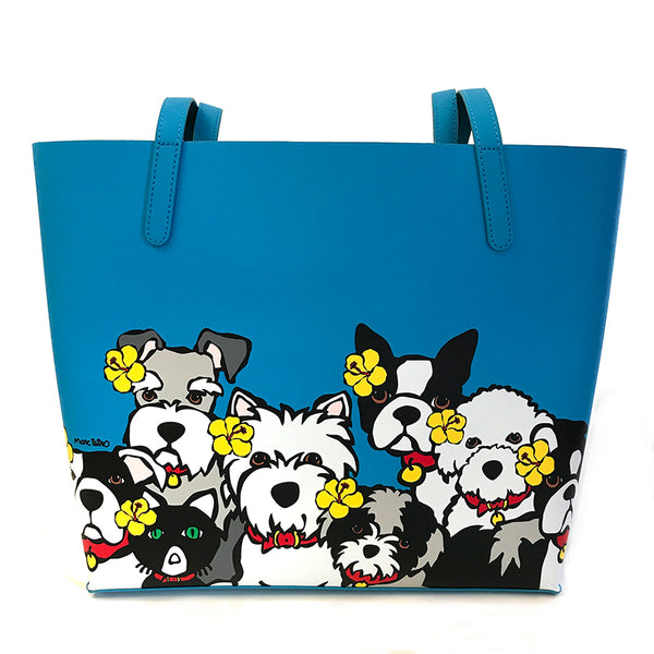 SALE! Dog Group with Flowers Tote Bag