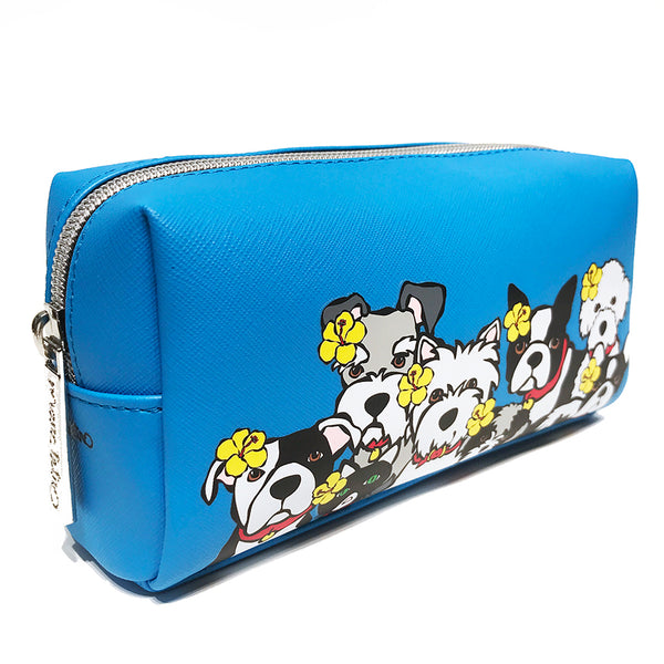 Dog Group with Flowers Cosmetic Case - Small