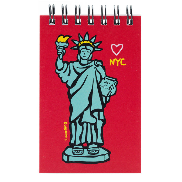 NYC Statue of Liberty Spiral Notepad