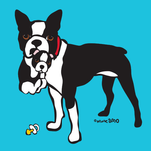Little Boston Terrier Print