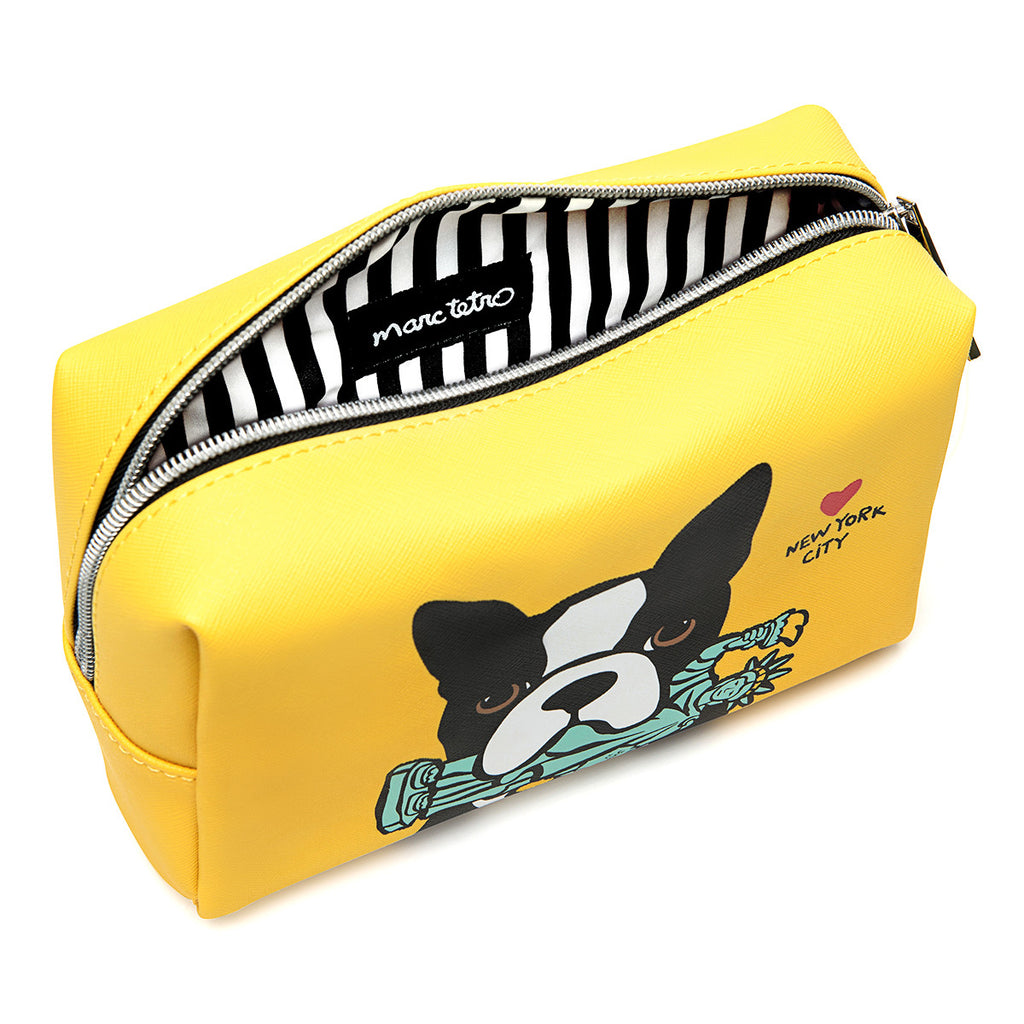 NYC Boston Terrier Cosmetic Case - Large