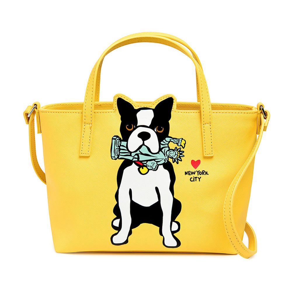 NYC Boston Terrier Crossbody Bag