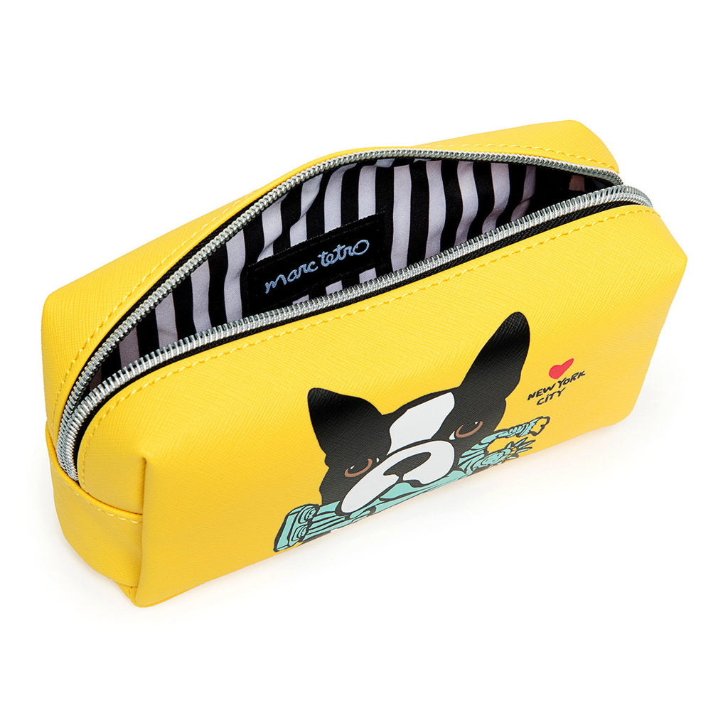 NYC Boston Terrier Cosmetic Case - Small