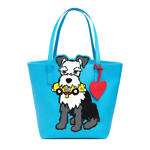 SALE! NYC Schnauzer Tote Bag with Dangle
