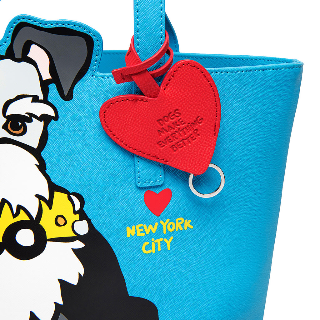 NYC Schnauzer Tote Bag with Dangle
