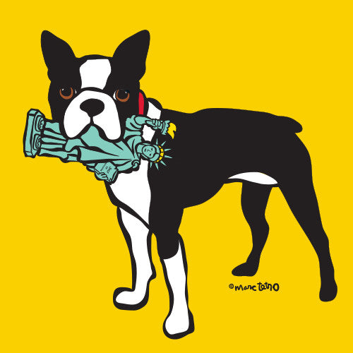 NYC Boston Terrier Print