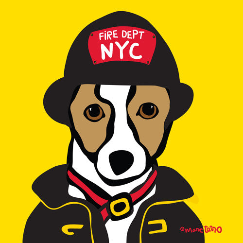 NYC Jack Russell FDNY Print